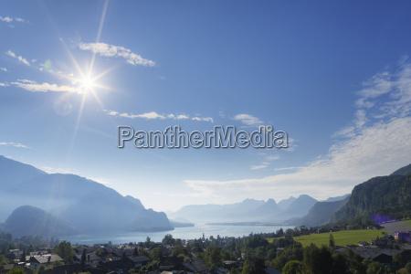 austria salzkammergut view of st gilgen