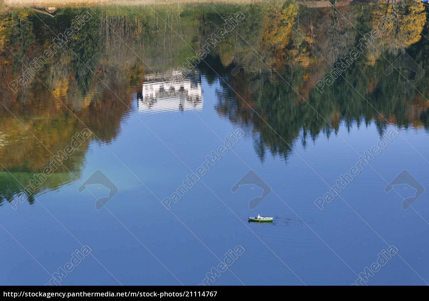 germany, , bavaria, , view, of, boat, in - 21114767
