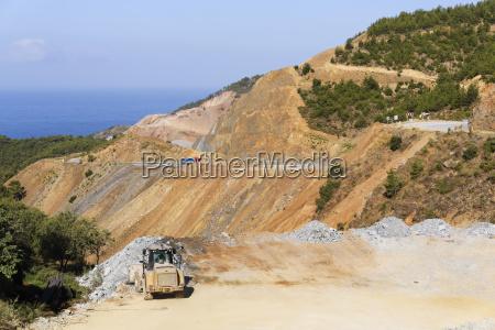 turkey alanya view of road construction