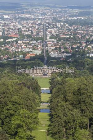 germany kassel view to schloss wilhelmshoehe