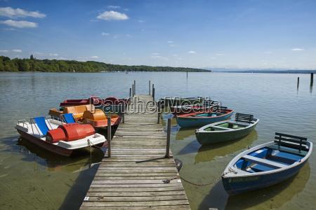germany bavaria stegen lake ammer pedal
