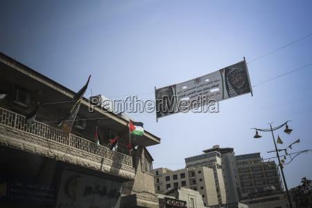 palestine west bank bethlehem palestinian flags