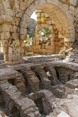 turkey antalya aksu ancient city at