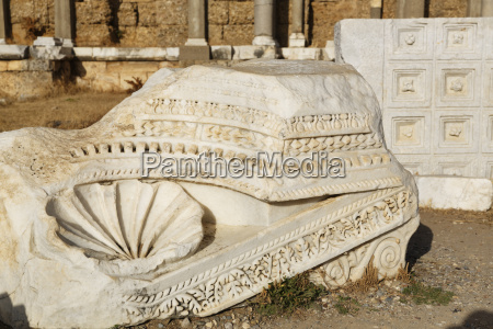 turkey side ancient marble relief in