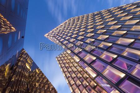 germany hamburg modern skyscrapers dancing towers