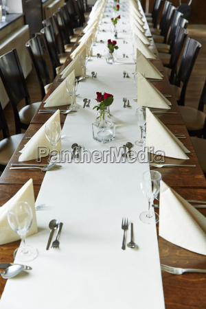 germany festivly laid table for a
