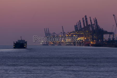 germany bremen bremerhaven view to harbour