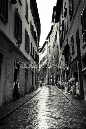 italy tuscany florence narrow street on