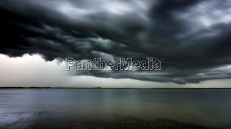 usa florida lightning and storm clouds