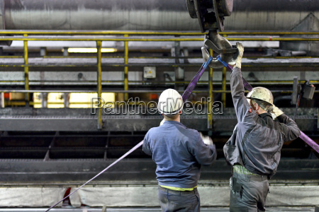 workers doing maintenance works in a