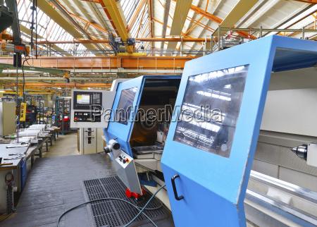 cnc machine in a factory
