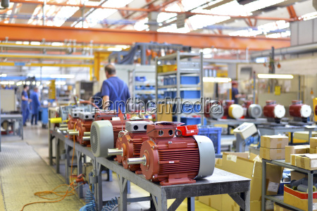 electric motor production in a factory