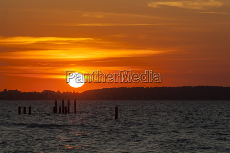 germany schleswig holstein sunset at baltic