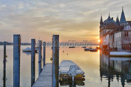 switzerland thurgau steckborn lake constance boats