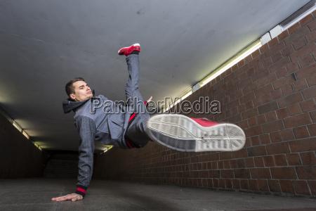 germany portrait of young break dancer