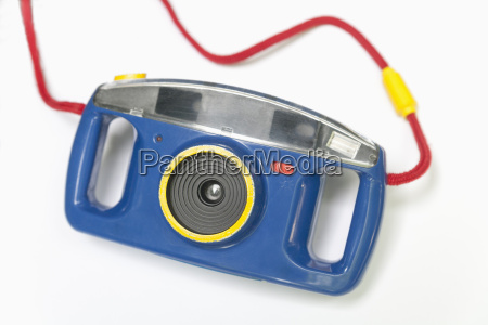 analog plastic camera on white background