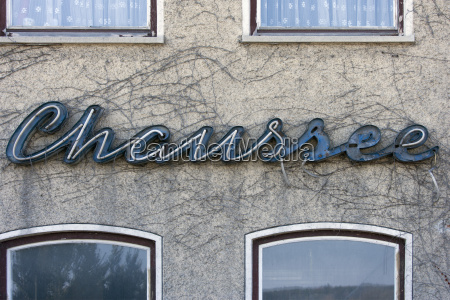 germany bavaria old neon sign on