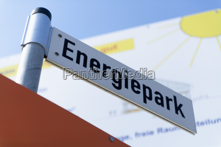 germany bavaria sign post at photovoltaic