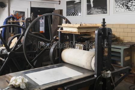 germany bavaria copperplate printing machine in