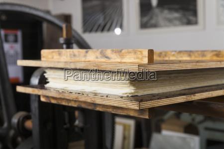 germany bavaria stack of deckle edge