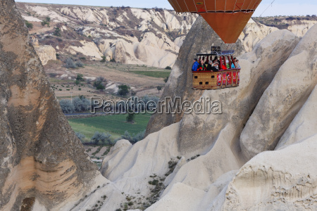 turkey cappadocia view to gondola of