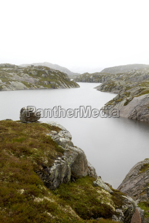 norway view of lake in mountain