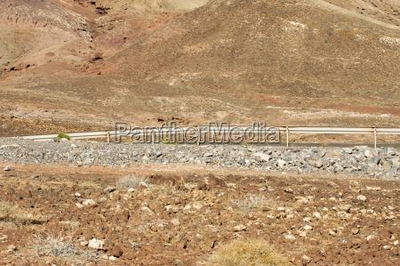 spain fuerteventura part of volcanic landscape