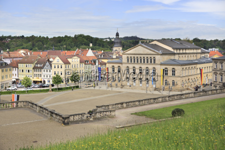 germany bavaria coburg theaterplatz and theatre