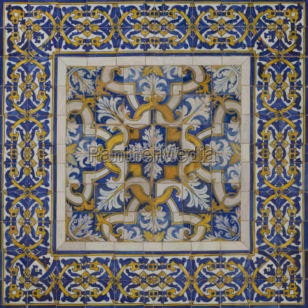 portugal ceramic tilework on house