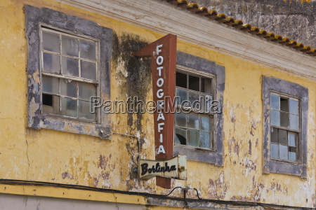 portugal lagos run down photo shop