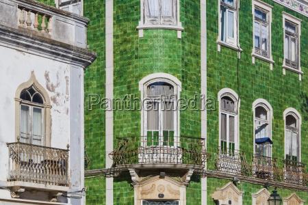 portugal lagos ceramic tilework houses