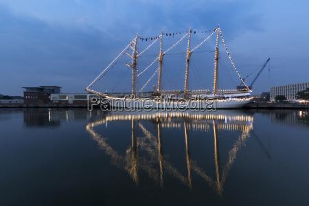 germany bremerhaven sailing ship at the