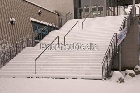 germany baden wuerttemberg stuttgart snow capped