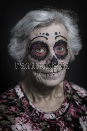 portrait of senior woman with sugar