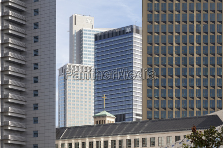 germany hesse frankfurt office towers and