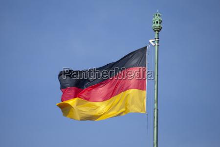 german, flag, and, blue, sky - 21128495