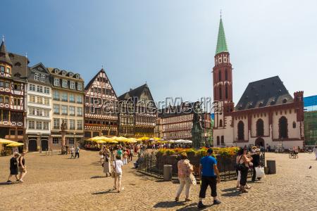 germany frankfurt view to ostzeile and