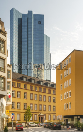 germany frankfurt modern bank building behind