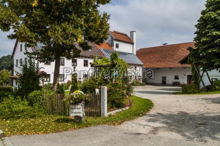 germany bavaria attenhofen gateway to farm