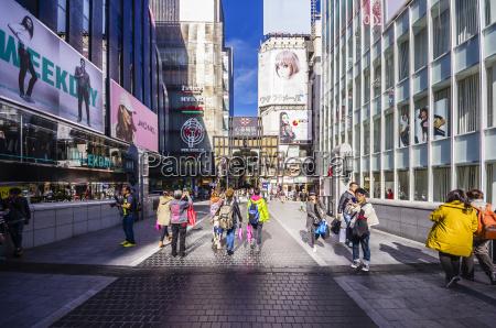 japan osaka pedestrian area in dotonbori