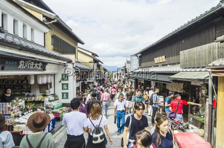 japan honshu kyoto gion district people