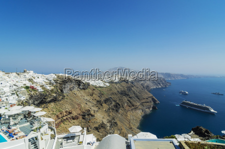 greece santorini view to fira and