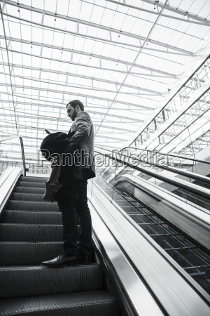 young businessman with digital tablet on