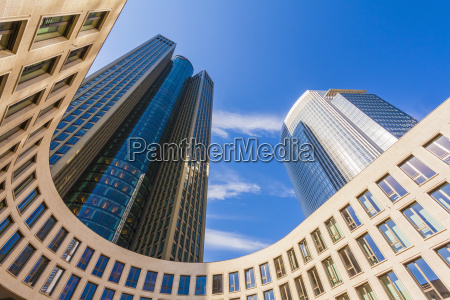 germany hesse frankfurt tower 185 and