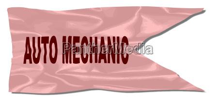 auto mechanic silk flag