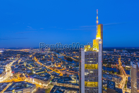 germany hesse frankfurt view to city