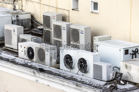 italy capri air conditioners on house