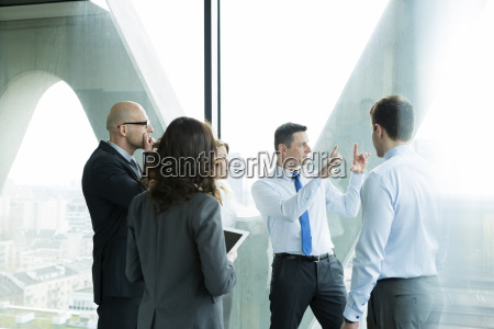 group of businesspeople in office