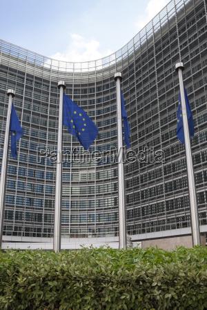 belgium brussels european commission european flags