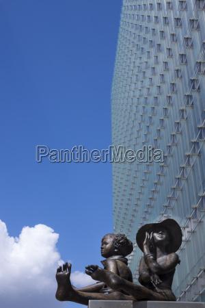 belgium brussels european commission sculpture at